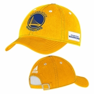 Golden State Warriors adidas Adjustable Slouch Cap - Gold