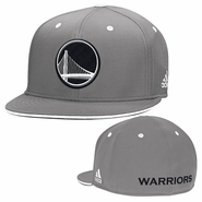 Golden State Warriors adidas Alternate Flat Brim Flex Fit � Slate