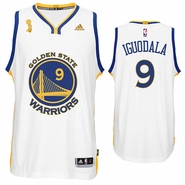 Golden State Warriors adidas Andre Iguodala Trophy Ring Banner Swingman Jersey - White