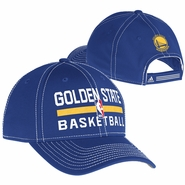 Golden State Warriors adidas Authentic Adjustable Practice Cap - Royal