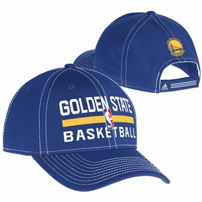 Golden State Warriors adidas Authentic Adjustable Practice Cap - Royal - Click to enlarge