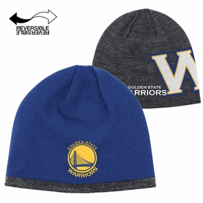 Golden State Warriors adidas Authentic Reversible Team Knit Beanie - Royal/Grey - Click to enlarge