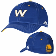 Golden State Warriors adidas Authentic Team Flexfit Cap - Royal