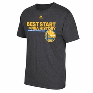 Golden State Warriors adidas �Best Start in History� Short Sleeve Tee � Slate