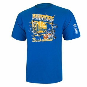 Golden State Warriors adidas Broken Glass Graphic Tee - Royal - Click to enlarge