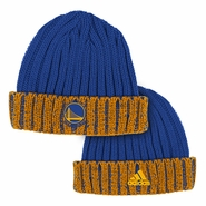 Golden State Warriors adidas Captain's Cuffed Knit Cap - Royal/Gold