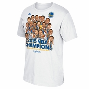 Golden State Warriors adidas Caricature Celebration Parade Tee - White - Will Ship 7/8