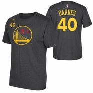 Golden State Warriors adidas Chinese Heritage Harrison Barnes #40 Gametime Player Tee - Slate