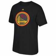 Golden State Warriors adidas Chinese Heritage On-Court Short Sleeve Tee - Black