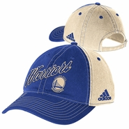 Golden State Warriors adidas Christmas Day Slouch Adjustable Cap - Royal/Cream