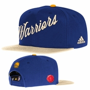 Golden State Warriors adidas Christmas Day Snapback Cap - Royal/Cream