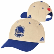 Golden State Warriors adidas Christmas Day Structured Adjustable Cap - Cream/Royal