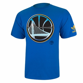 Golden State Warriors adidas Chrome Logo Horizon Tee - Royal - Click to enlarge