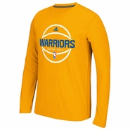 Golden State Warriors adidas Climacool� Ultimate Pre-Game Long Sleeve Tee � Gold