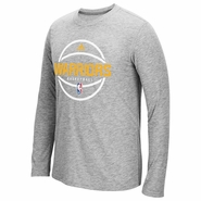 Golden State Warriors adidas Climacool � Ultimate Pre-Game Long Sleeve Tee � Light Grey