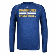 Golden State Warriors adidas CLIMALITE Long-Sleeve Practice Tee - Royal