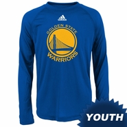 Golden State Warriors adidas CLIMALITE Youth Primary Logo Long-sleeve  Tee - Royal