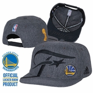 Golden State Warriors adidas Conference Champions Authentic Locker Room Snapback Hat - Grey