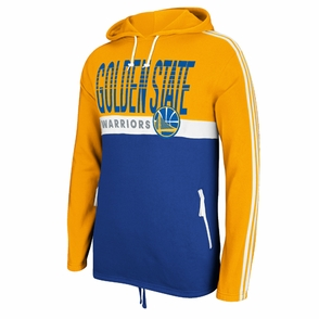 Golden State Warriors adidas Court Series Playa Pullover Hoody - Gold/Royal - Click to enlarge