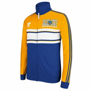 Golden State Warriors adidas Court Series Playa Track Jacket - Gold/Royal - Click to enlarge