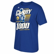 Golden State Warriors adidas Curry - Fastest to 1000 3's Tee - Royal