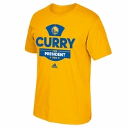 Golden State Warriors adidas Curry For President 2016 Tee - Gold