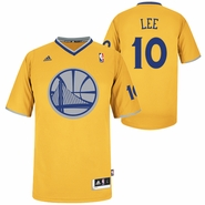 Golden State Warriors adidas David Lee 2013 Big Logo Christmas Day Swingman Jersey - Gold