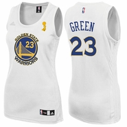Golden State Warriors adidas Draymond Green Trophy Ring Banner Ladies' Replica Jersey - White