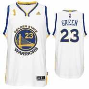 Golden State Warriors adidas Draymond Green Trophy Ring Banner Swingman Jersey - White