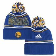 Golden State Warriors adidas Energy Stripe Cuffed Knit Pom � Royal