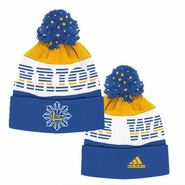 Golden State Warriors adidas Filipino Heritage Cuffed Pom Knit Hat - Royal/Gold
