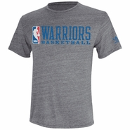 Golden State Warriors adidas Finger Roll Triblend Tee - Grey