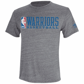 Golden State Warriors adidas Finger Roll Triblend Tee - Grey - Click to enlarge