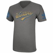 Golden State Warriors adidas Finger Roll V-Neck Tee - Grey