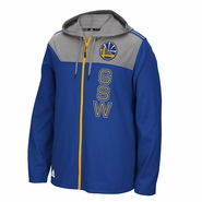 Golden State Warriors adidas Full Zip Tip-Off Hoodie - Royal