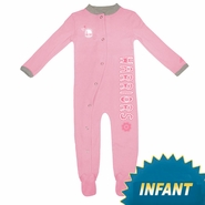 Golden State Warriors adidas Girl's Infant Pink Long Sleeve Coverall