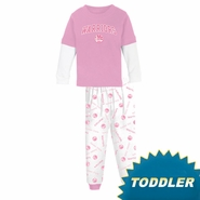 Golden State Warriors adidas Girl's Toddler Pink 2 Piece Layered Pajama Set