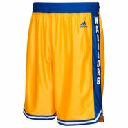 Golden State Warriors adidas Hardwood Classic Swingman Shorts � Gold