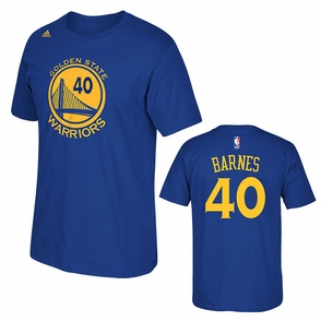 Golden State Warriors adidas Harrison Barnes #40 Gametime Player Tee - Royal - Click to enlarge