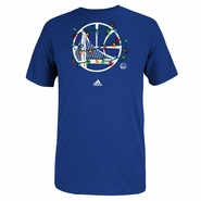 Golden State Warriors adidas Holidays Christmas Lights Tee - Royal