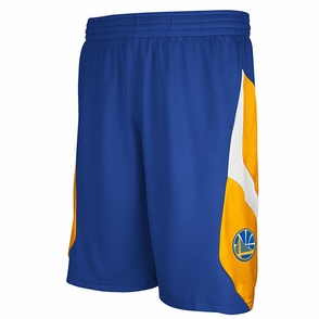 Golden State Warriors adidas Icon Shorts - Royal - Click to enlarge