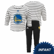 Golden State Warriors adidas Infant �B-Ball Sweetheart� Long Sleeve Pant Set � Black
