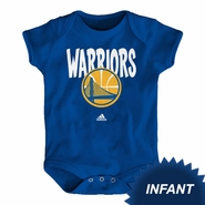 Golden State Warriors adidas Infant �Front Whirlwind� Short Sleeve Creeper - Royal