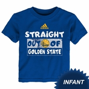 """Golden State Warriors adidas Infant """"Straight Out of Golden State"""" Short Sleeve Tee - Royal"""