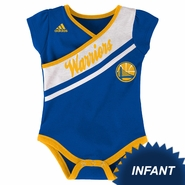 Golden State Warriors adidas Infant Wrapped Cheer Creeper - Royal