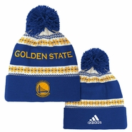 Golden State Warriors adidas Jacquard Cuffed Knit Pom � Royal