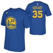 Golden State Warriors adidas Kevin Durant #35 Gametime Name & Number Tee - Royal