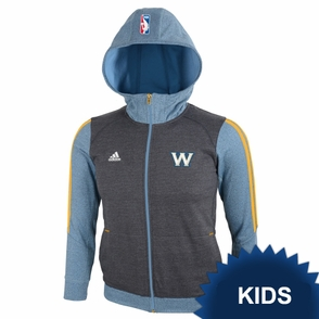 Golden State Warriors adidas Kids Girls Travel Top - Grey - Click to enlarge