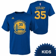 Golden State Warriors adidas Kids Kevin Durant #35 Gametime Name & Number Tee - Royal