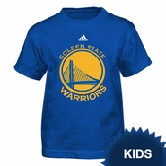 Golden State Warriors adidas Kids Mesh Primary Logo Short Sleeve Tee - Royal
